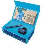 Novidade! Caneta Tinteiro Pelikan M120 Iconic Blue Pena M